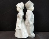 Heubach Dutch Boy and Girl Porcelain Figures 19th century 7.5 quot x 4.5 quot