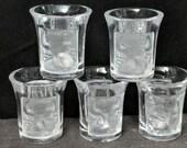Lalique Les Enfants Shot Glasses (5) 1 7 8 quot tall