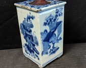 Antique Chinese Blue White Porcelain Water Dropper for Calligraphy