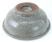 Qing Dynasty Chinese Celadon Crackle Glazed Bowl