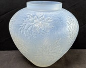 c1923 R. LALIQUE Vase, Esterel, cased opalescent 6.25 quot tall x 6 quot wide