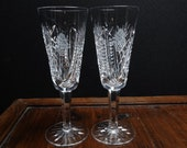 Waterford Christmas Suite Champagne Flutes 7 5 16 quot tall x 2 9 16 quot wide at rim (Pair)
