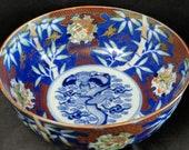 c1880 Japanese Imari Bowl 8.5 quot x 4 quot