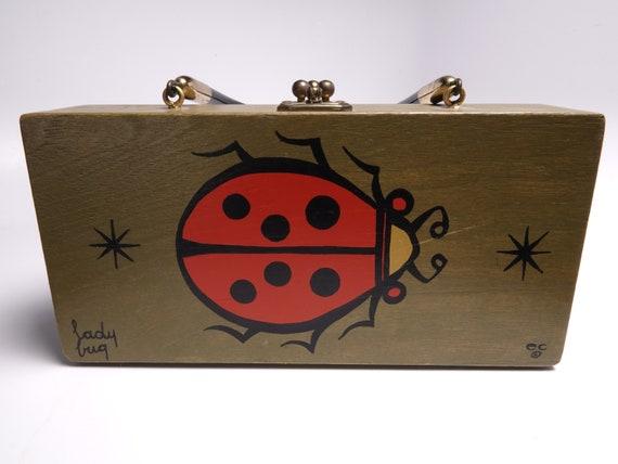 1967 Enid Collins Ladybug Box Bag Dated