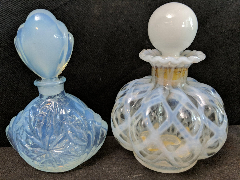 1940 's opalescent flacons de parfum 2 Fenton et