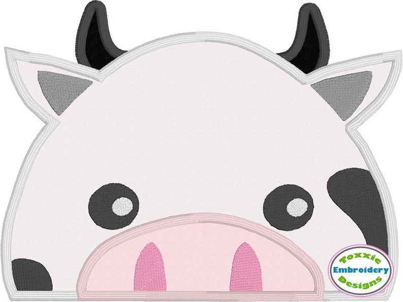 Cow Peeker Applique image 0