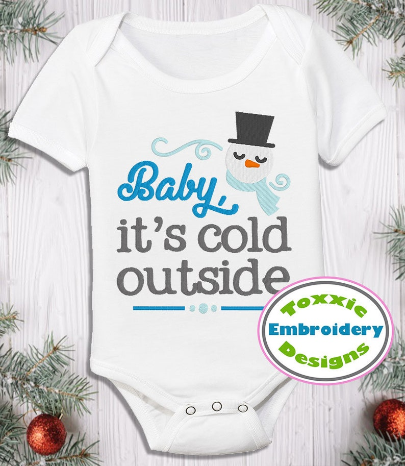 Baby It's Cold Outside Word Art image 0