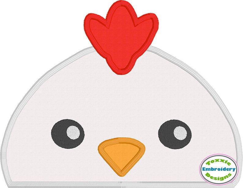 Chicken Peeker Applique image 0