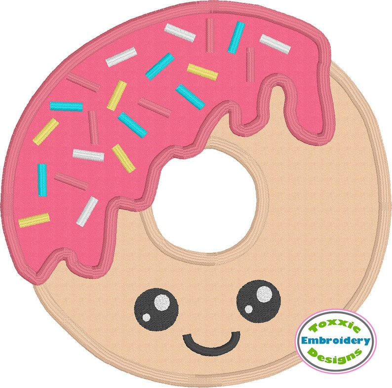 Sprinkle Donut Applique  5x7 and 4x4 Hoop  Machine image 0