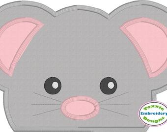 Mouse Peeker Applique