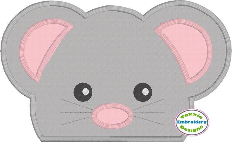 Mouse Peeker Applique image 0