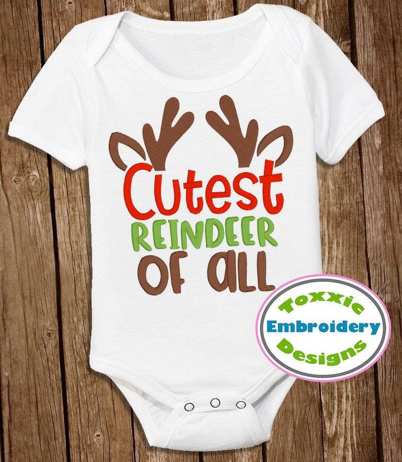 Cutest Reindeer of All Word Art image 0