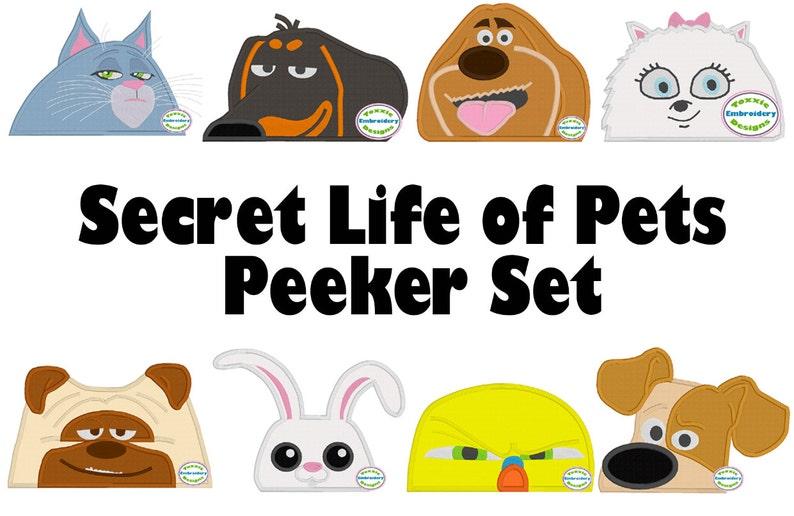 Pets Peeker Set  Applique Machine Embroidery image 0