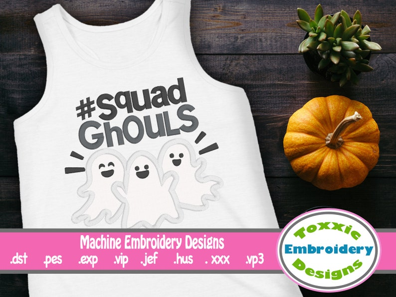 Squad Ghouls Applique Word Art image 0