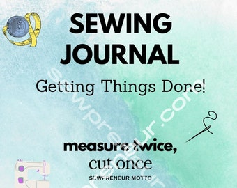 Sewing planner / sewing journal / sewing business journal / sewing planner pages / sewing pages planner / sewing project planner journal