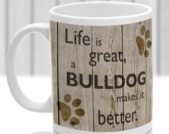 Bulldog mug, Bulldog gift, ideal present for dog lover