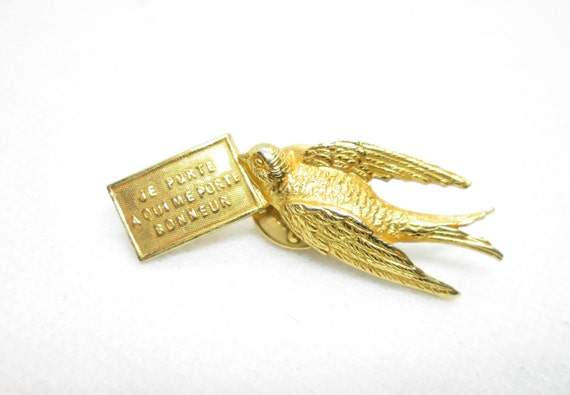 Vintage PHILIPPE FERRANDIS Bird Brooch/ Pin