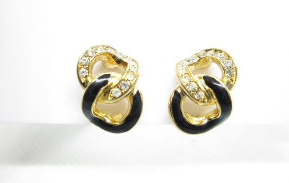 Vintage Christian Dior  style clip on earrings