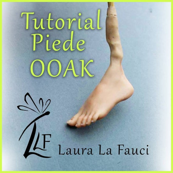 bella vista prima qualità aspetto elegante Video tutorial piede ooak in pasta polimerica ,foot polymer