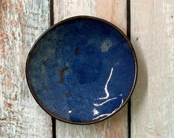 Dark Blue Rustic Small Ceramic Bowl - Prep Bowl - Dipping Bowl - Set of Bowls - Choose Your Colors