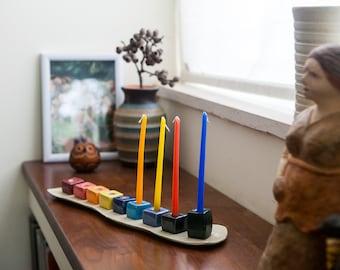 Ceramic Menorah, Hanukkah Menorah, Jewish Menorah for Hanukkah