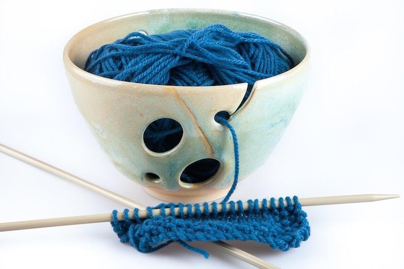 Turquoise Ceramic yarn bowl