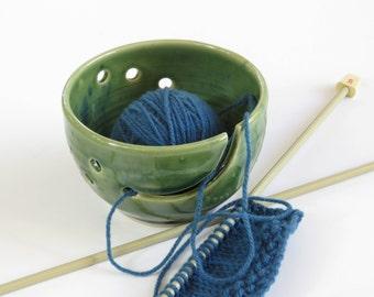 Green Ceramic Yarn Bowl