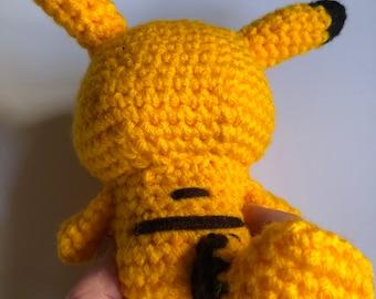 Large amigurumi Pikachu crochet