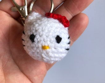 Hello Kitty keyring! Kitty head with split ring and lobster clasp.