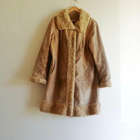 Vintage Suede Penny Lane Winter Coat