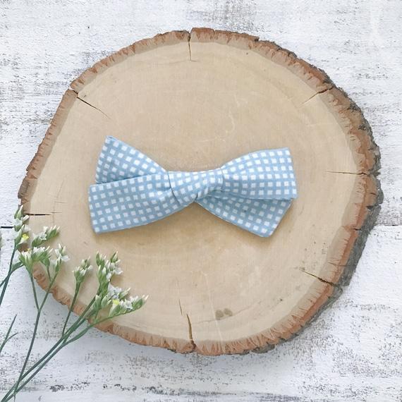 Blue Square ARC - fait à la main arc - surdimensionné l'école fille arc - queue de cochon ensemble - automne en Nylon arc - bandeau - agrafe