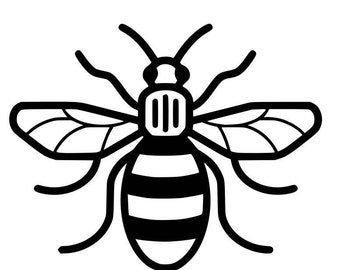 Manchester bee vinyl sticker for walls, furniture, cars, windows etc in support of the we love Manchester fund