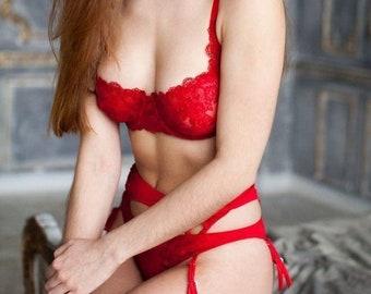 7b637eea3 Red Lingerie Set