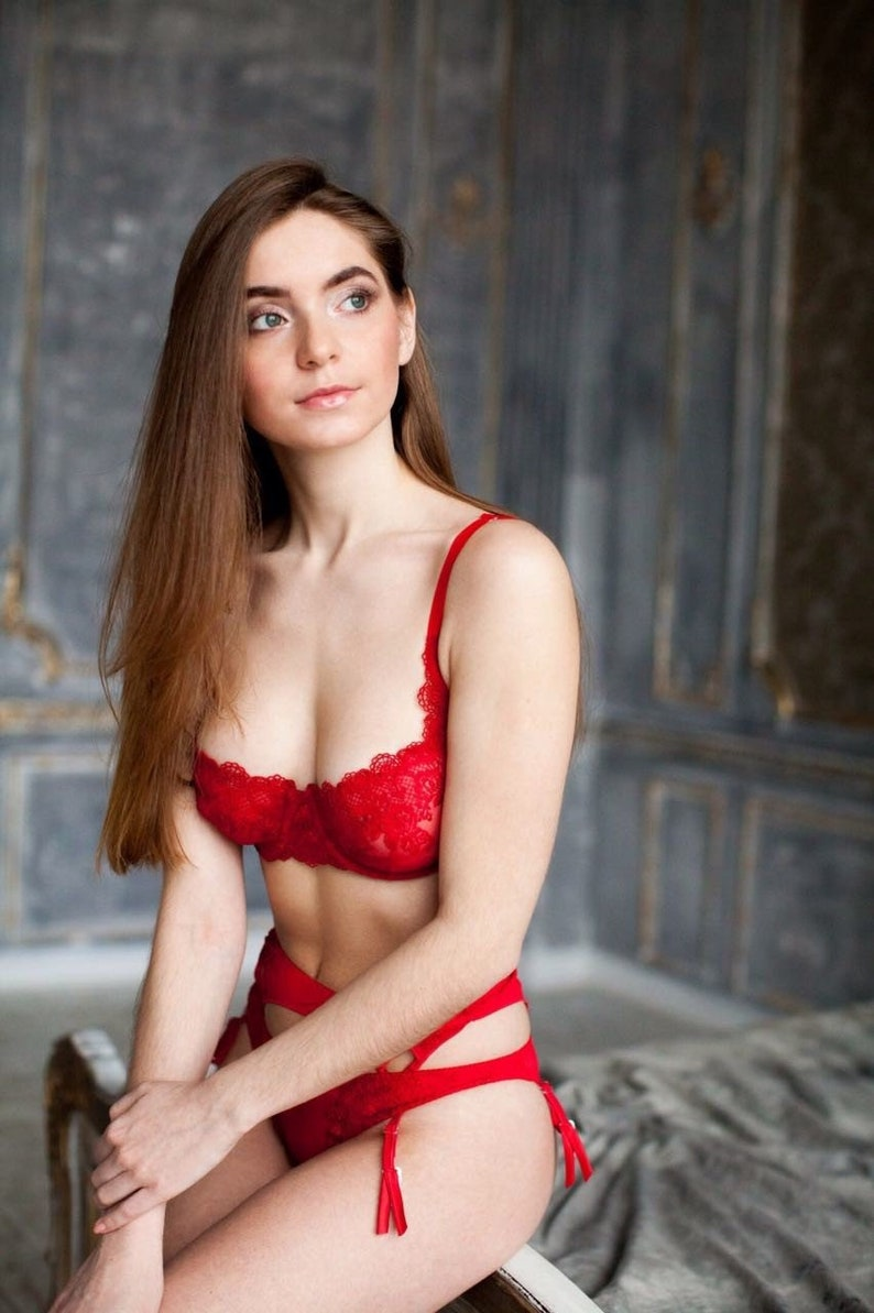 a3eff4a40f Red Bra See Through Bra Sexy Lingerie Red Lingerie Lace