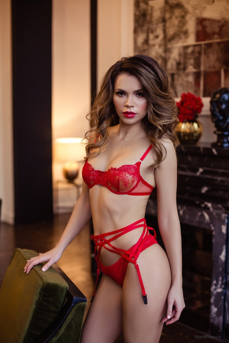 3e47860ad2 Red Bra Erotic Lingerie Lace Bra Erotic Bra Sexy Bra Wife