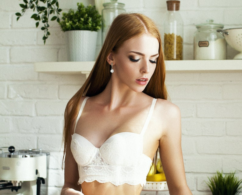 0b63f86e9844 White Bra Wedding Bra Lace Bra Sexy Bra Bridal Lingerie | Etsy