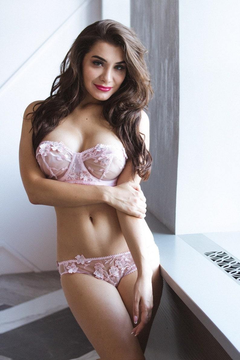 c9baf176149d1 Pink Bra Lace Bra Sexy Bra Women Bra Wife Gift Lace