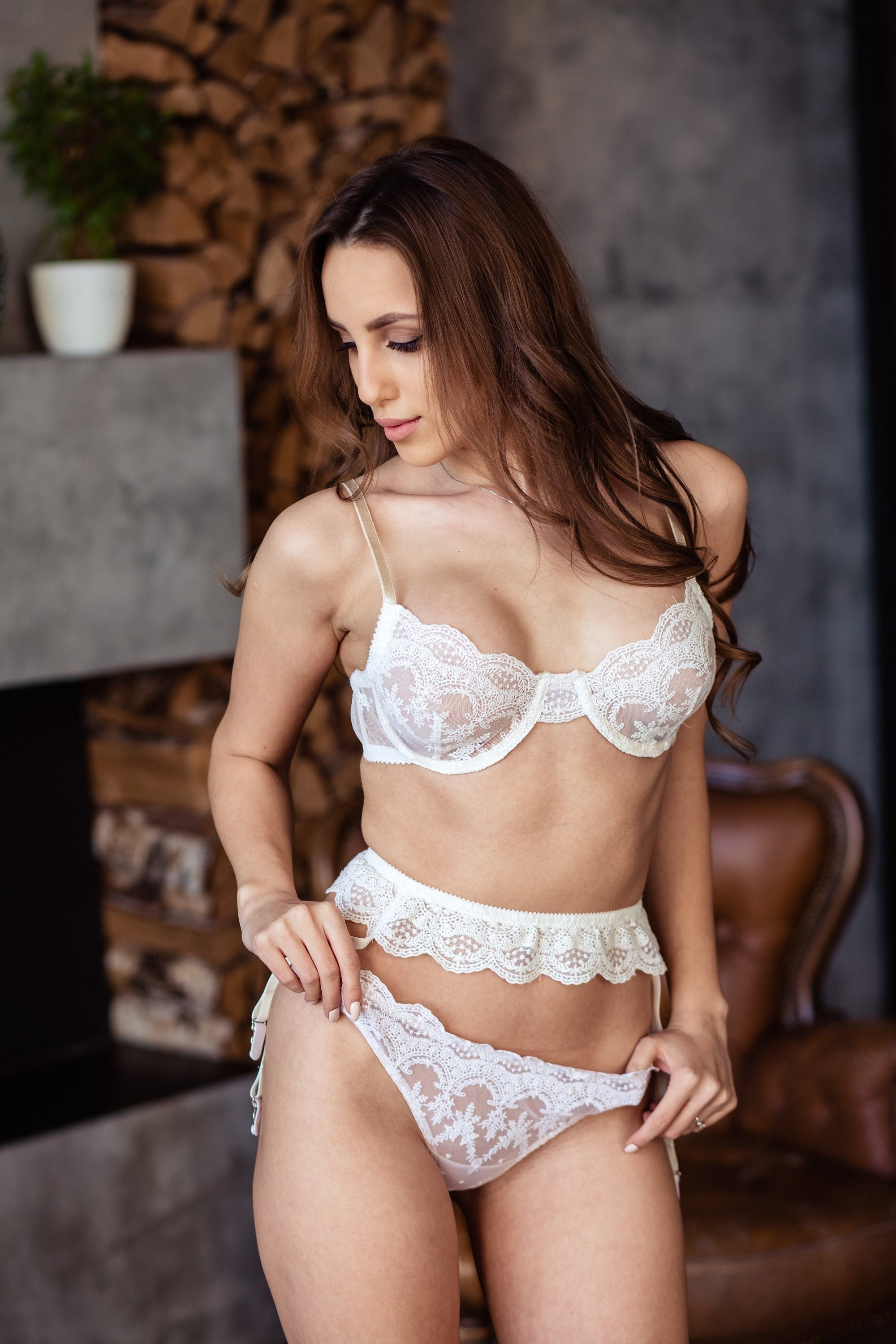 088692916 Wedding Bra Lace Sheer Bra White Bridal Bra Pin Up