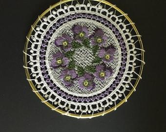 Purple Pansy Suncatcher