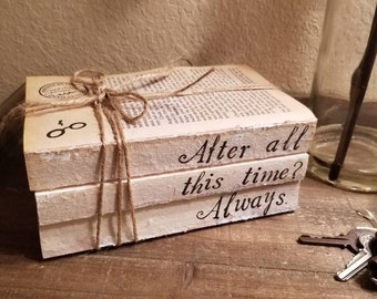 After All This Time; Always set; Stamped Books Set; Handmade; Book lovers; Wedding centerpieces; Home decor; Anniversary