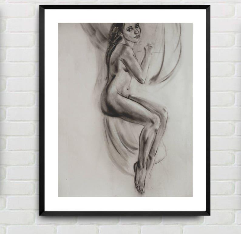 Nude contemporary sketch