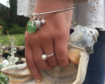 Beach bangle bracelet