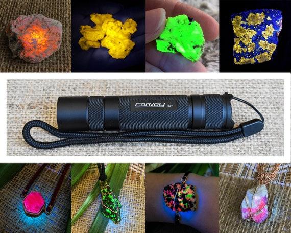 With UV bandpass filter Black Super powerful Convoy S2 Shortwave 365nm filtered UV flashlight torch