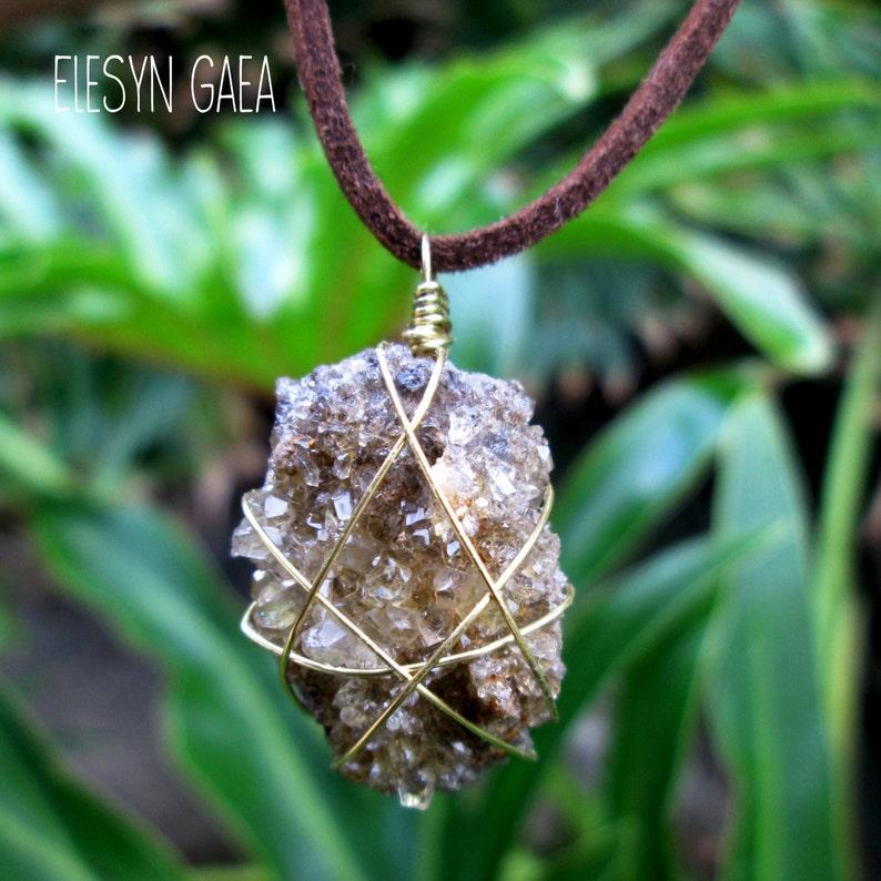 Quartz cluster choker high fashion trendy boho festival jewelry quartz cluster crystal necklace