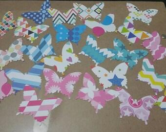 Butterfly die cut | 100 butterflies per pack