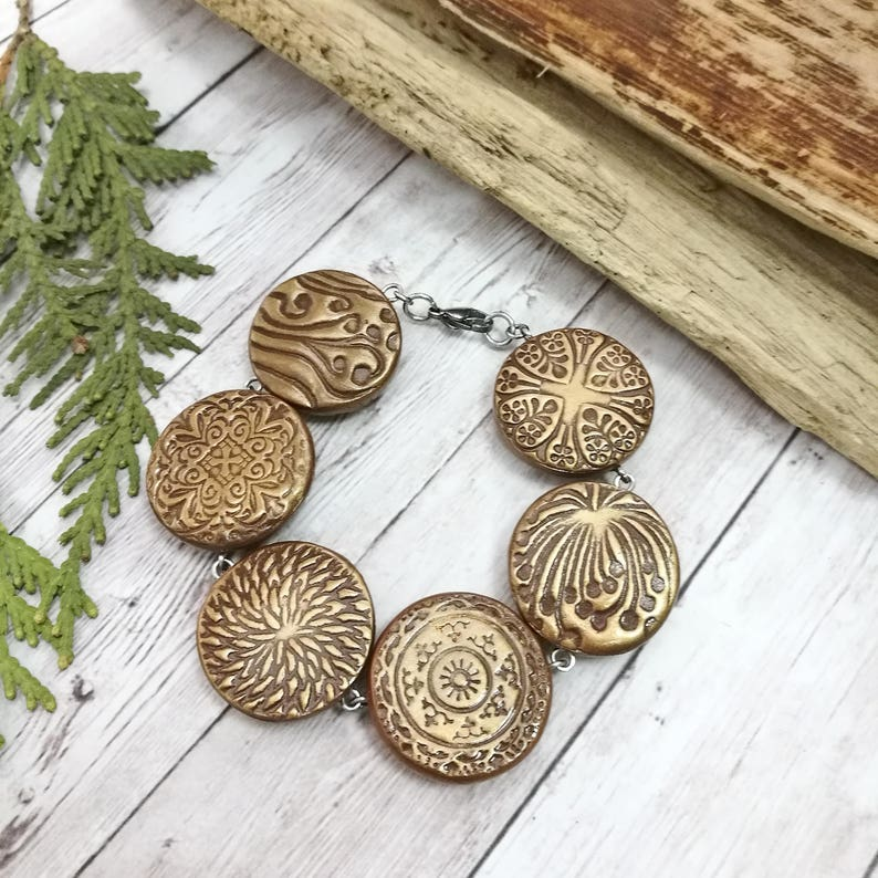 Brown jewelry set bracelet and earring