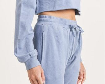 JP Activewear Sweatpants - Comfy Joggers | Boho Lounge Pants | Lounging Pants | Blue Jogger Sweatpants | Everyday Lounge Sweatpants
