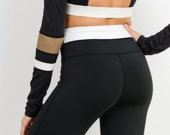 JP Activewear High Waist Color Block Leggings