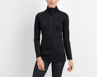 JP Activewear Slim-Fit Workout Jacket w/Hood