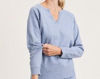 Fashion Sweatshirt, Womens Blue Sweatshirt, Fashion Trending Sweatshirt, All Season Sweatshirt